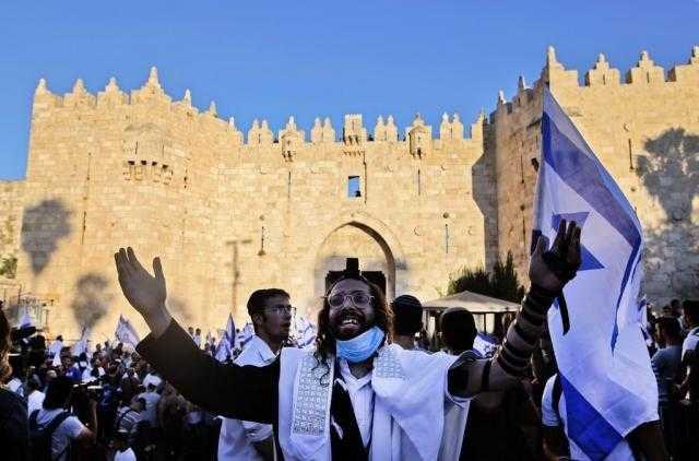 مسيرة صهيونية في القدس تَسب نبى الله محمد