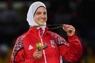 أول فتاة تنال هذا الشرف.. هداية ملاك حاملة علم مصر في أولمبياد طوكيو