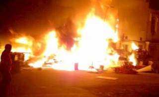 حريق ضخم بمبنى مستشفيات جامعة الزقازيق