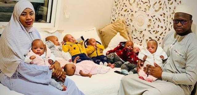 شاهد.. أول صورة للتوائم الـ9 أبناء سيدة مالى صاحبة الرقم القياسى للإنجاب